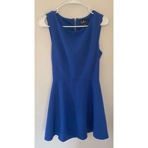 Lulus Dress Blue Size Large EUC